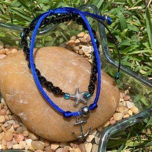 Tibetan Starfish  Anchor sailor bracelet set